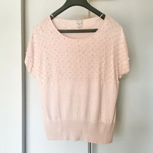 H&M pink pearl top size large
